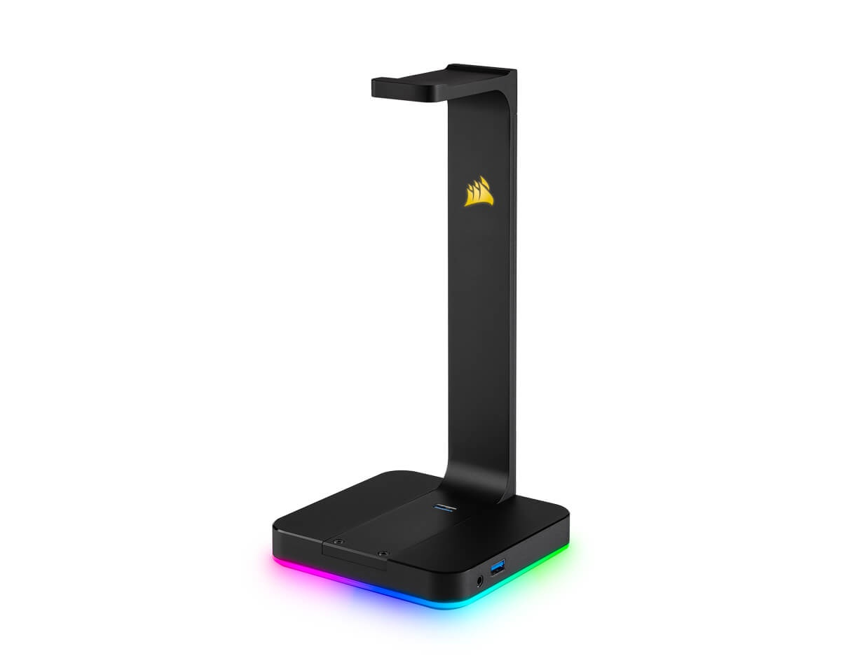ST100 RGB Premium Headset Stand 7.1 Surround Sound i gruppen Datatilbehør / Headset & Lyd / Headsettholder hos MaxGaming (11412)