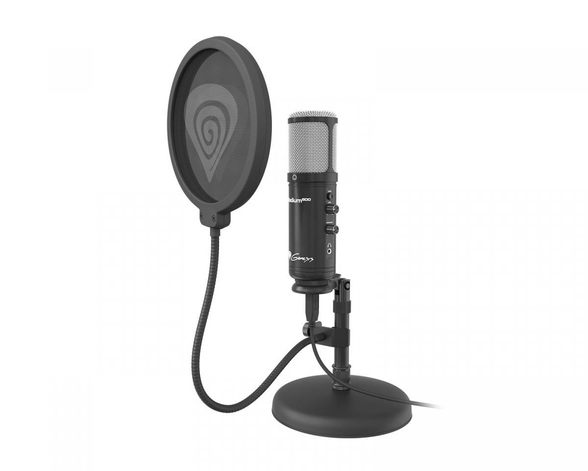 Kjøpe Genesis Radium USB Mikrofon for streaming på MaxGaming.no