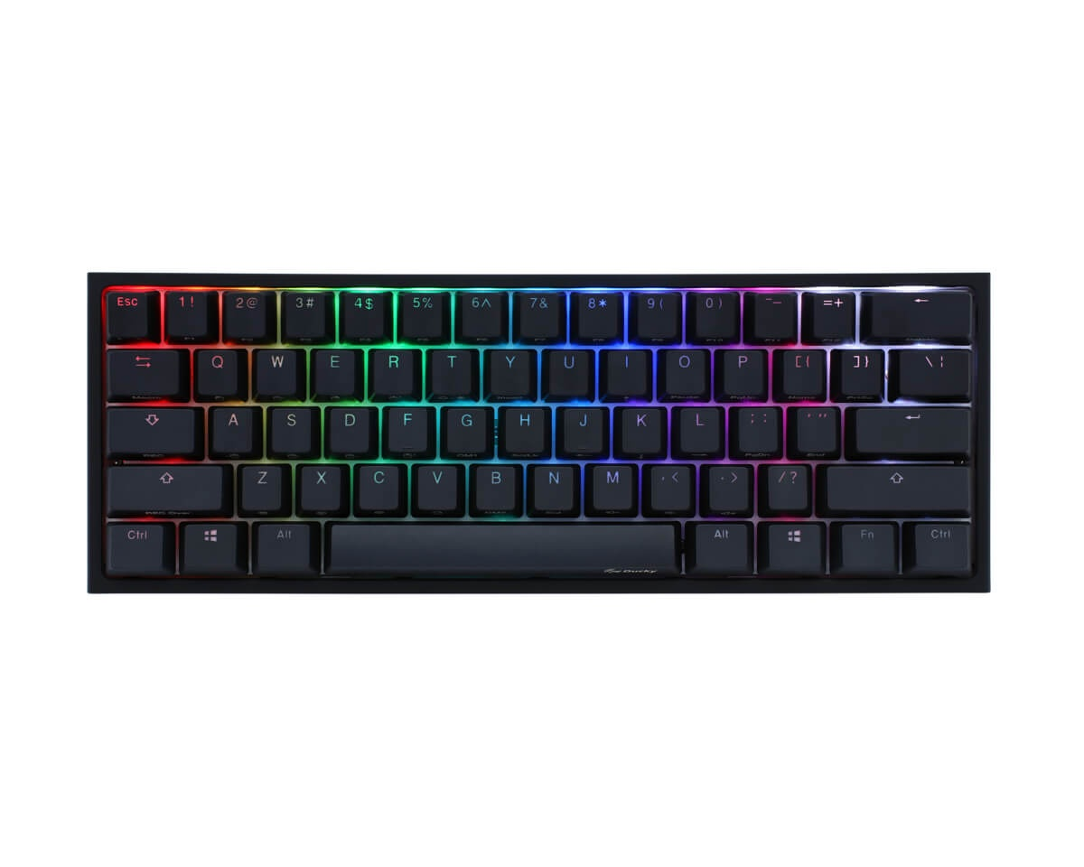 Ducky ONE 2 Mini Gaming keyboard, MX Blue, RGB LED Black