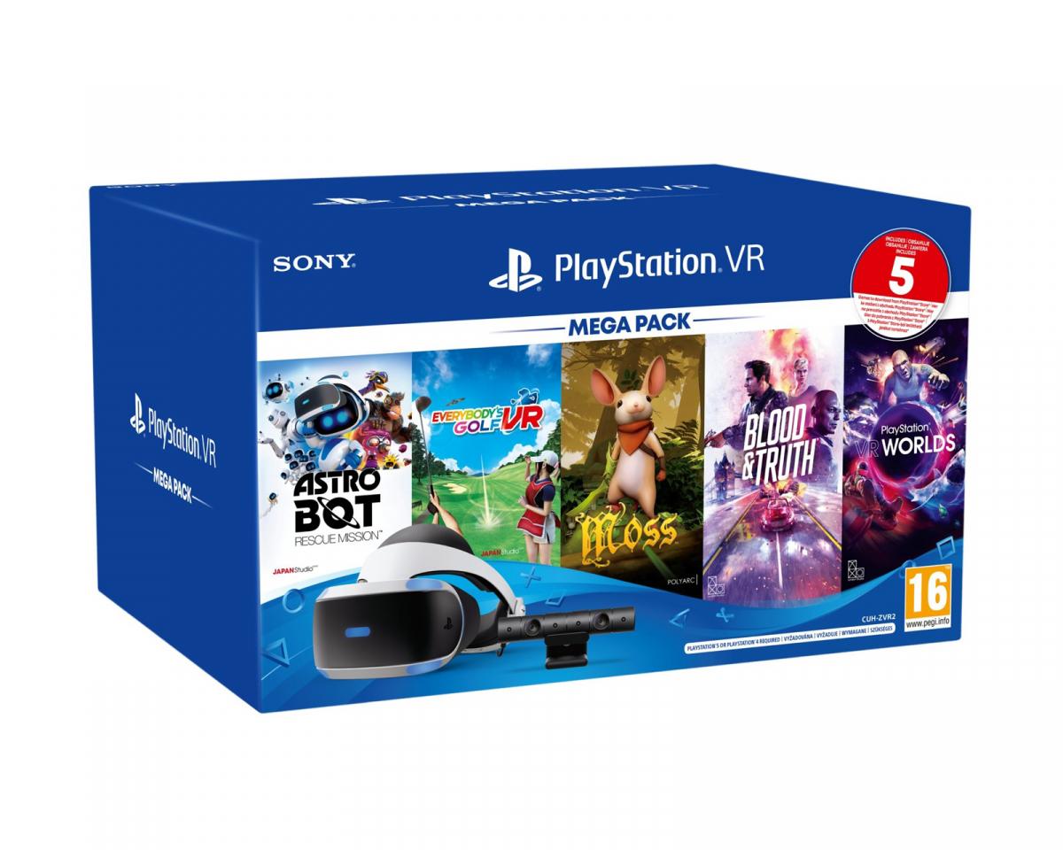 Kjøpe Sony Playstation VR Mega Pack 2 + 5 st spel (inkl