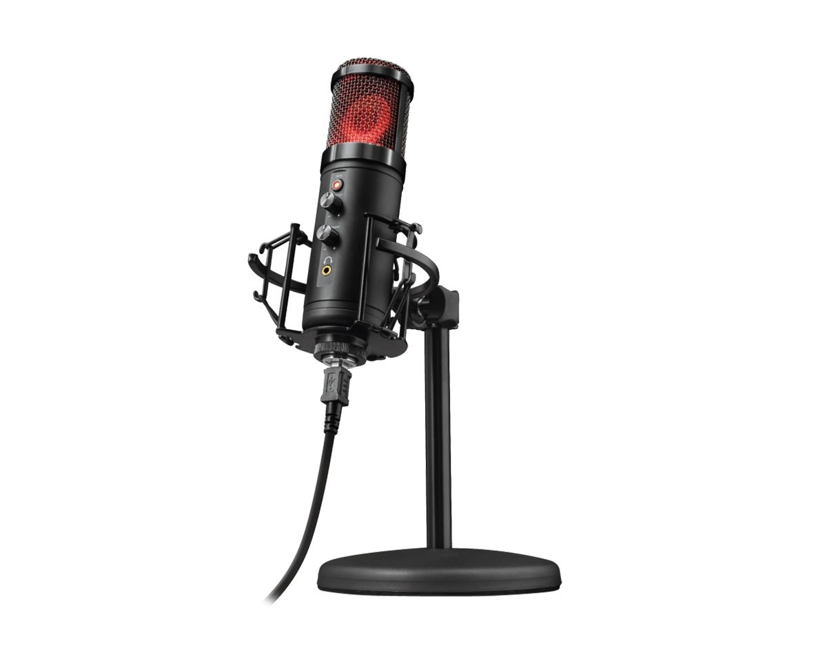 Trust Emita USB studio mikrofon Streaming og opptak gaming