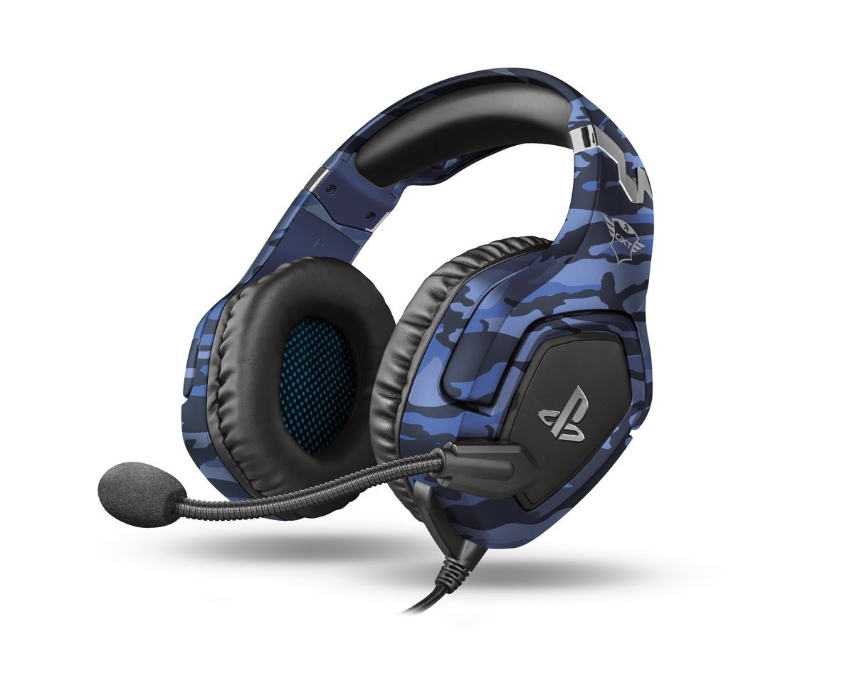 GXT 488 Forze PS4 Gaming Headset Camo Blå i gruppen Konsoll / Playstation / PS4 Tilbehør / Headsets hos MaxGaming (15935)