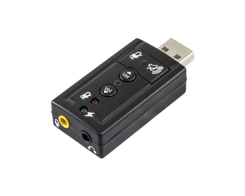 Kjøpe Deltaco USB Lydkort 7.1 2x 3.5mm på MaxGaming.no