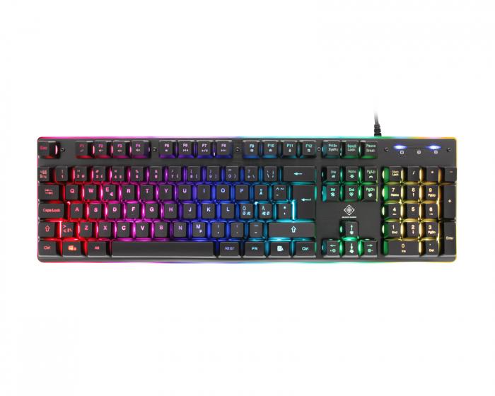 Kjøpe Trust Ziva Gaming Rainbow LED Tastatur på MaxGaming.no