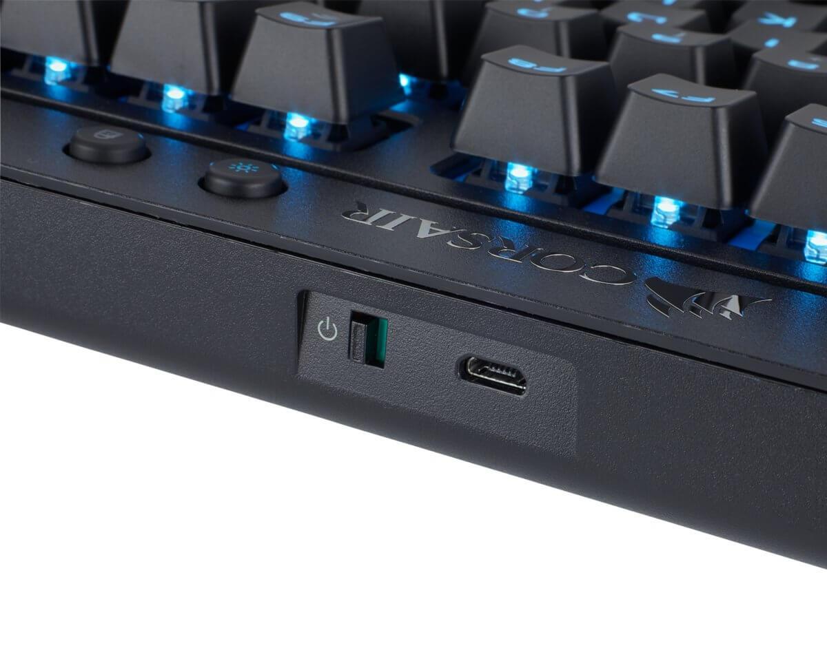 Corsair Gaming K63 trådløst tastatur Blå LED, Cherry MX Red