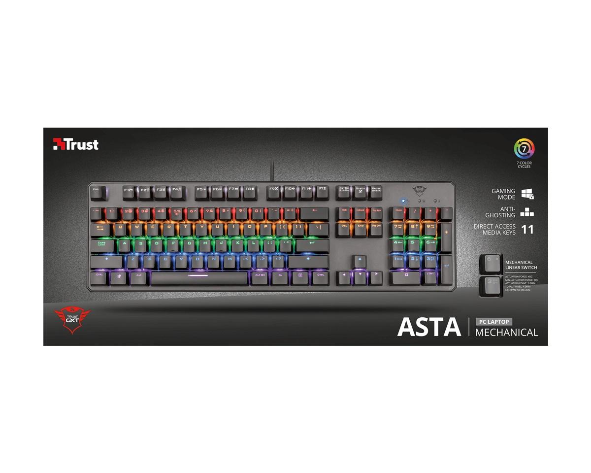 Kjøpe Trust GXT 865 Asta Mekaniskt Tastatur på MaxGaming.no