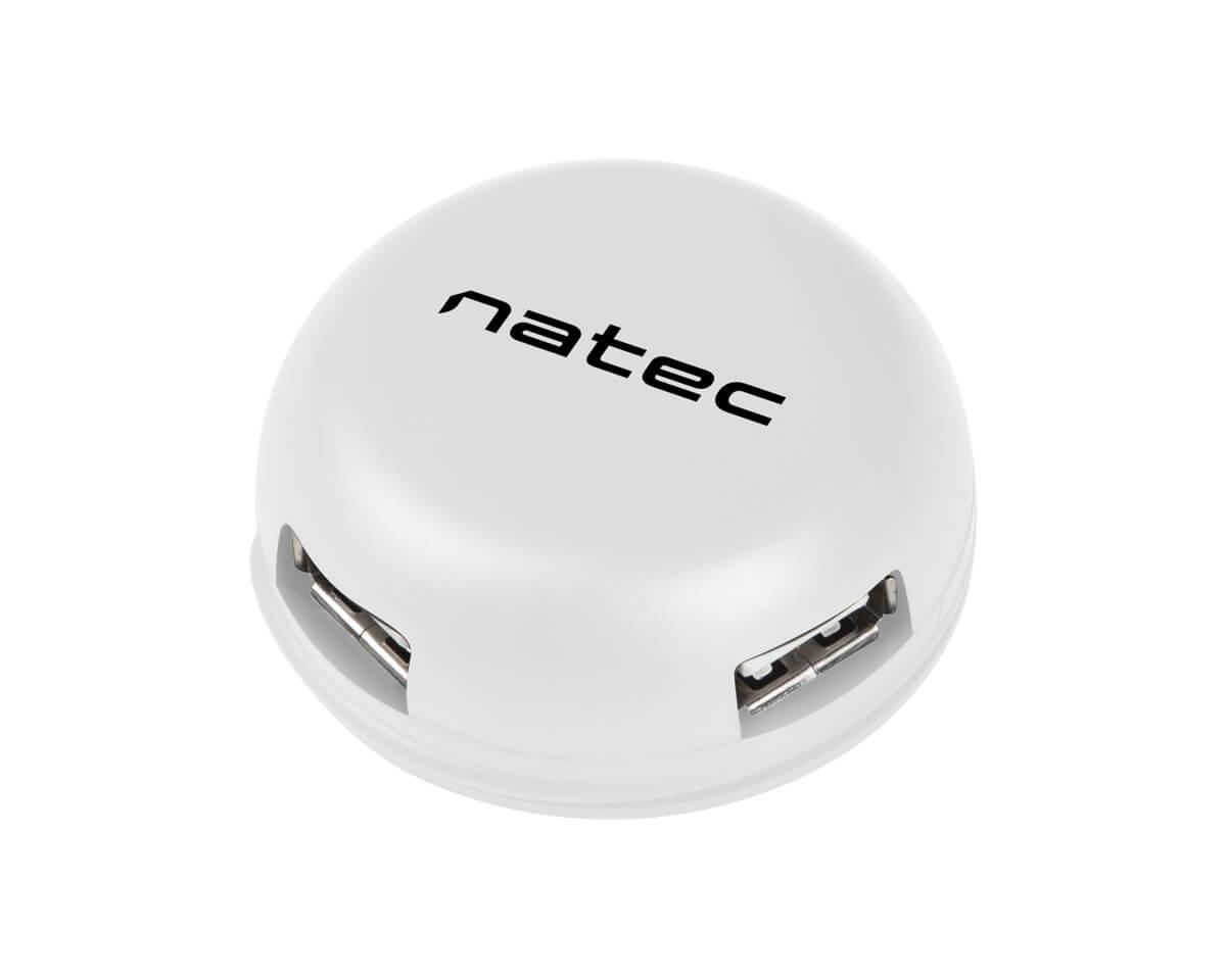 Kjøpe Natec USB Hub 2.0 Dragonfly 3 ports + RJ45 på MaxGaming.no