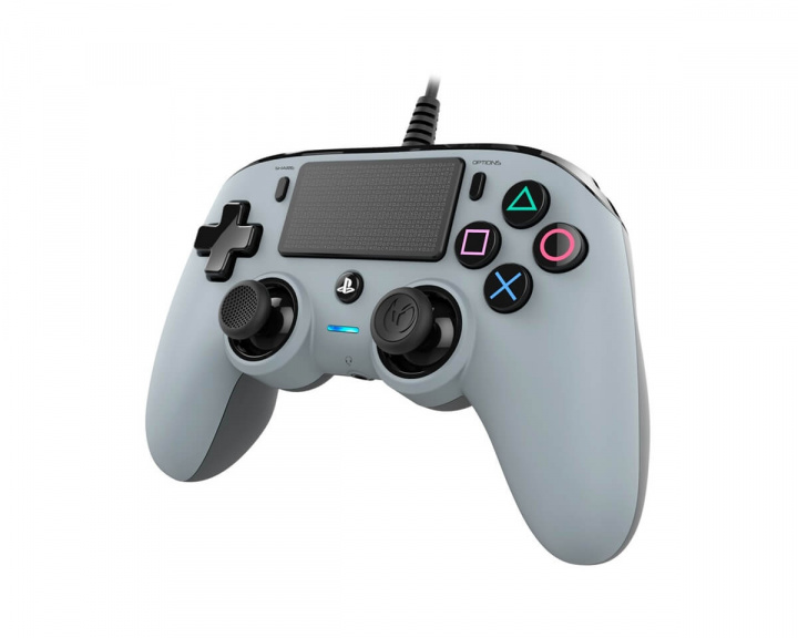 Wired Compact Kontroller Grå (PS4/PC) i gruppen Konsoll / Playstation / PS4 Tilbehør / Spillkontroll hos MaxGaming (14652)
